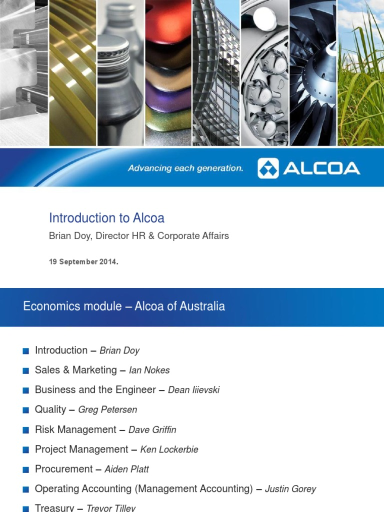 L1 - Introduction to Alcoa | Aluminium | Mining