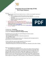 2013 NURF Project Summary