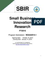 FY2015 SBIR Phase I Solicitation
