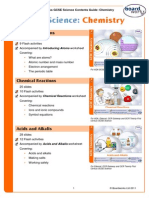 GCSE Science 2011 Contents Guide Chemistry-1