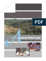 Allocating Forest Lands - Commonly Issued Allocation Instruments