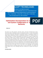 IEEE 2014 DOTNET NETWORKING PROJECT Optimization Decomposition for Scheduling and System Configuration in Wireless Networks
