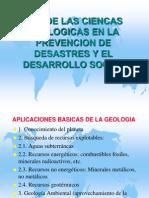 Ciencias geologicas Prevencion de desastres y Desarrollo.ppt