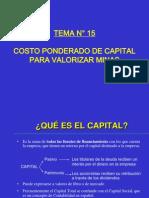 TEMA 15 2012-II COSTO PONDERADO DE CAPITAL.ppt
