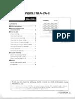 PJZ012A029 SLA-2A-E Central Controller Operation Manual