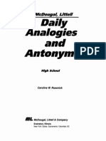 Analogies and Antonyms