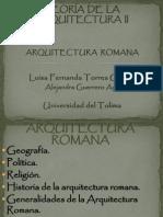 TEORÍA  DE  LA ARQUITECTURA  II roma.pptx