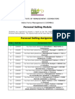Personal Selling Assignment