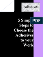 5 Simple Steps to Choose the Adhesives to Your Work