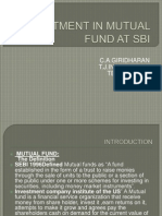 Investment in Mutual Fund at Sbi