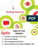 9 Aptis Reading Overview