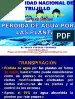 PÉRDIDA DE AGUA POR LAS PLANTAS-UNT 2014.ppt