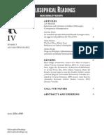 Philosophical Readings IV.3 2012