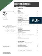 Philosophical Readings VI.2 2014