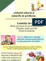 Diabetul zaharat şi măsurile de prevenire.ppt