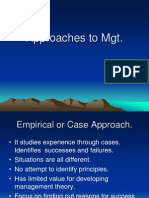 Approaches to Mgt