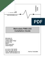 Metrodata FIMO-232 User Manual