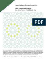 Islamic Geometric Ornament the 12 Point Islamic Star 2 Alternate Lacings
