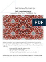 Islamic Geometric Ornament the 12 Point Islamic Star 1 Basic Structure of the Islamic Star