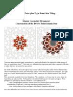 Islamic Geometric Ornament the 12 Point Islamic Star VI Al Azhar Panels Complexity 12 Plus 8 Point Star Tiling