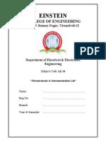EE38 Measurments & Instrumentation Lab