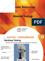 Testing of Materials