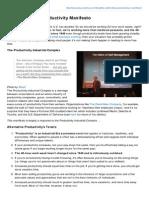 The Alternative Productivity Manifesto