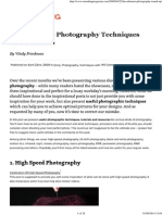 50 Incredible Photography Techniques and Tutorials