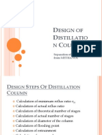 Design of Distillation Column
