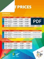 ICC Cricket World Cup 2015 Australia Ticket Pricing