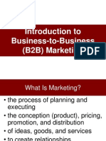 IntBusiness to business marketingroduction to B2B Marheting