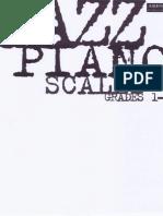 Piano Jazz Scales Grade 1-5