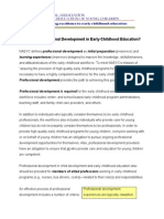 What is Professional Development in Early Childhood Education