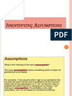Identifying Assumptions