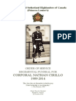 Order of Service - Cpl. Nathan Cirillo