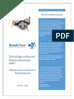 Technology-enhanced dispute resolution (TeDR)
