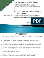 Estrategia de Sostenibilidad Energética Nacional-Presentación ante el Congreso Nacional-J.E. Luyo-  20 oct-2014.pdf