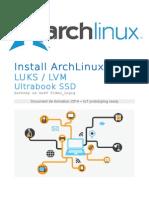 install arch ultrabook full luks SSD