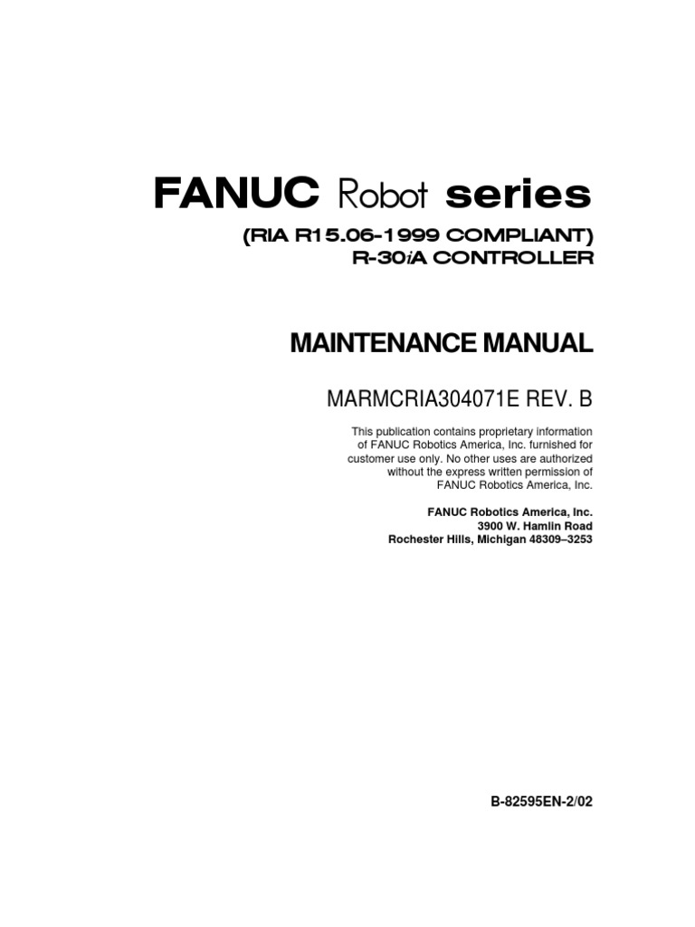 Controler Maintenance R30iA pdf | Electrical Connector