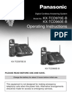User Manual Panasonic Kx Tcd970 e