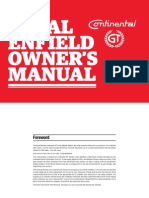 Continental Gt Owners Manual