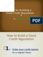6 Ideas for Building a Good Credit Reputation
