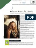 Entrevista a Yolanda Sáenz de Tejada