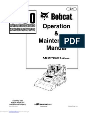 Bobcat T190 Operation Maintenance Manual | Loader (Equipment) | Elevator