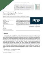 Target ratcheting and effort reduction Jan Bouwens , PeterKroos