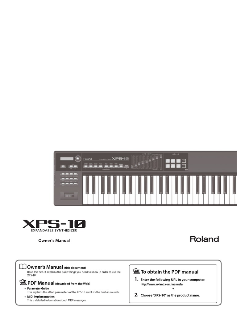 Manual_XPS-10 pdf | Synthesizer | Usb Flash Drive