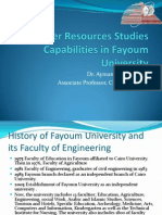 Water Resources Studies Capabilities in Fayoum University