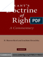 Byrd and Hruschka - Kant's Doctrine of Right, A Commentary
