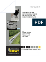 Effects of Pavement Properties on Tire Rolling Resistance