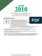 Kalender 2010 Falakiyah NU Gresik